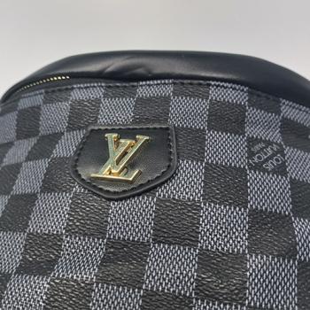 Поясная сумка Louis Vuitton Bumbag Monogram Клетка, черная 2196 - фото_5