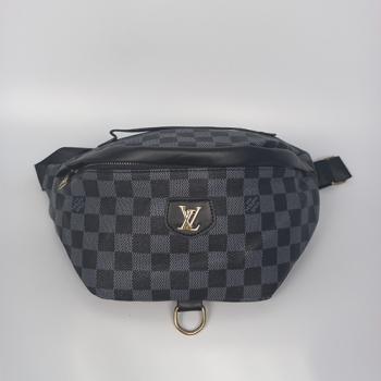 Поясная сумка Louis Vuitton Bumbag Monogram Клетка, черная 2196 - фото_2