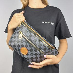 Поясная сумка Louis Vuitton Outdoor Клетка, черная 7693