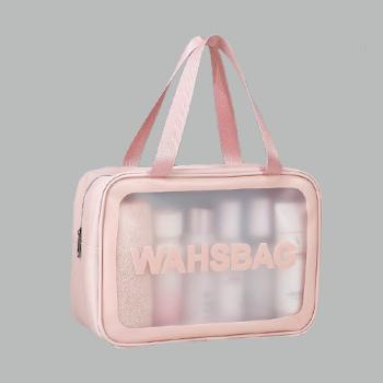 Косметичка Washbag Розовая L - фото