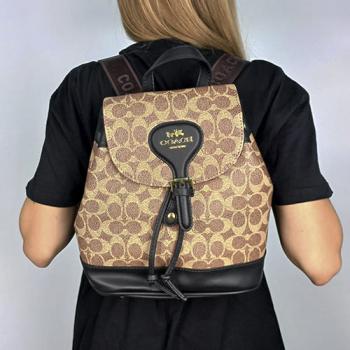 Рюкзак Coach Signature Evey Backpack Черный 0914 - фото