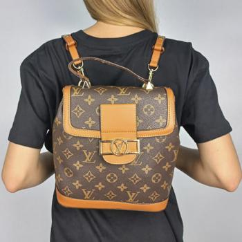 Рюкзак Louis Vuitton Dauphine LV Коричневый 9901 - фото