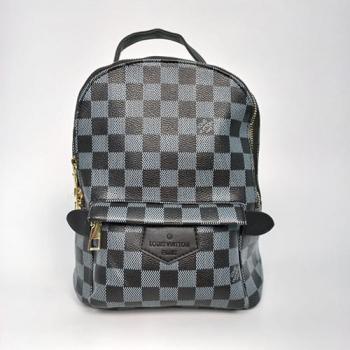 Рюкзак Louis Vuitton Palm Springs Mini Клетка, чёрный - фото_2