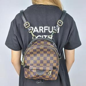 Рюкзак Louis Vuitton Palm Springs Mini XS Клітинка, коричнева