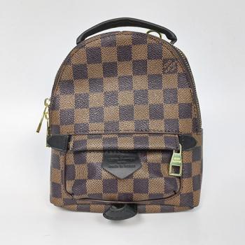 Рюкзак Louis Vuitton Palm Springs Mini XS Клетка, коричневая - фото_2