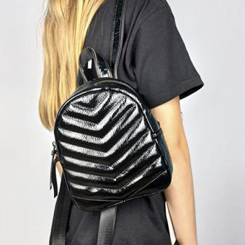 Рюкзак Tokyo Черный, глянцевый - фото