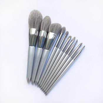 Набор кистей для макияжа Gray 10 in 1 - фото