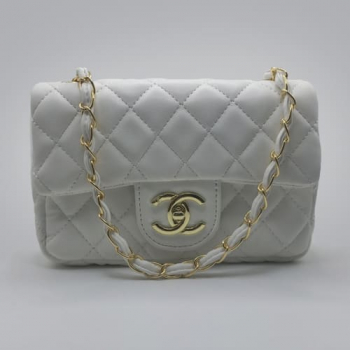 Сумка Chanel Mini Classic Handbag Белая 6601 - фото