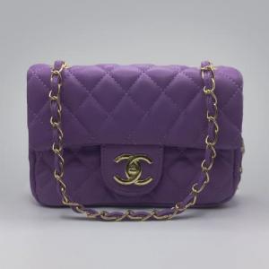 Сумка Chanel Mini Classic Handbag Фіолетова 6601