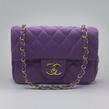 Сумка Chanel Mini Classic Handbag Фиолетовая 6601 - фото