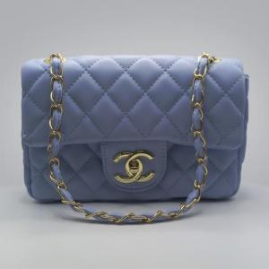 Сумка Chanel Mini Classic Handbag Блакитна 6601