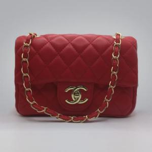Сумка Chanel Mini Classic Handbag Червона 6601