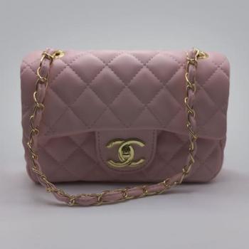 Сумка Chanel Mini Classic Handbag Розовая 6601 - фото