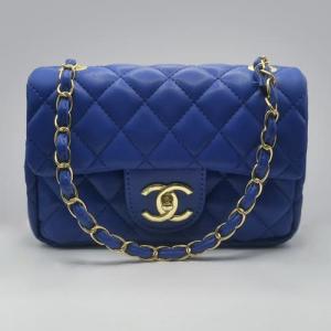Сумка Chanel Mini Classic Handbag Синя 6601