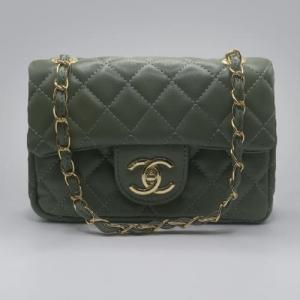 Сумка Chanel Mini Classic Handbag Зелена 6601