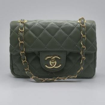 Сумка Chanel Mini Classic Handbag Зеленая 6601 - фото