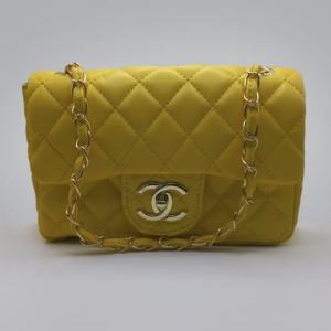Сумка Chanel Mini Classic Handbag Жовта 6601