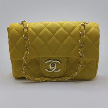 Сумка Chanel Mini Classic Handbag Желтая 6601 - фото