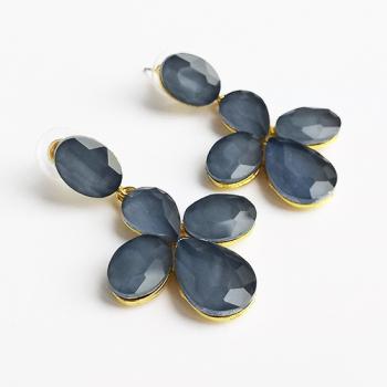 "Серьги ""Синий цветок"" - фото"