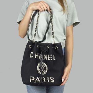 Сумка Chanel Fashion Classic Black Pearl з перлинами 2249