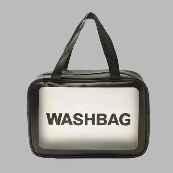 Косметичка Washbag Черная L - фото