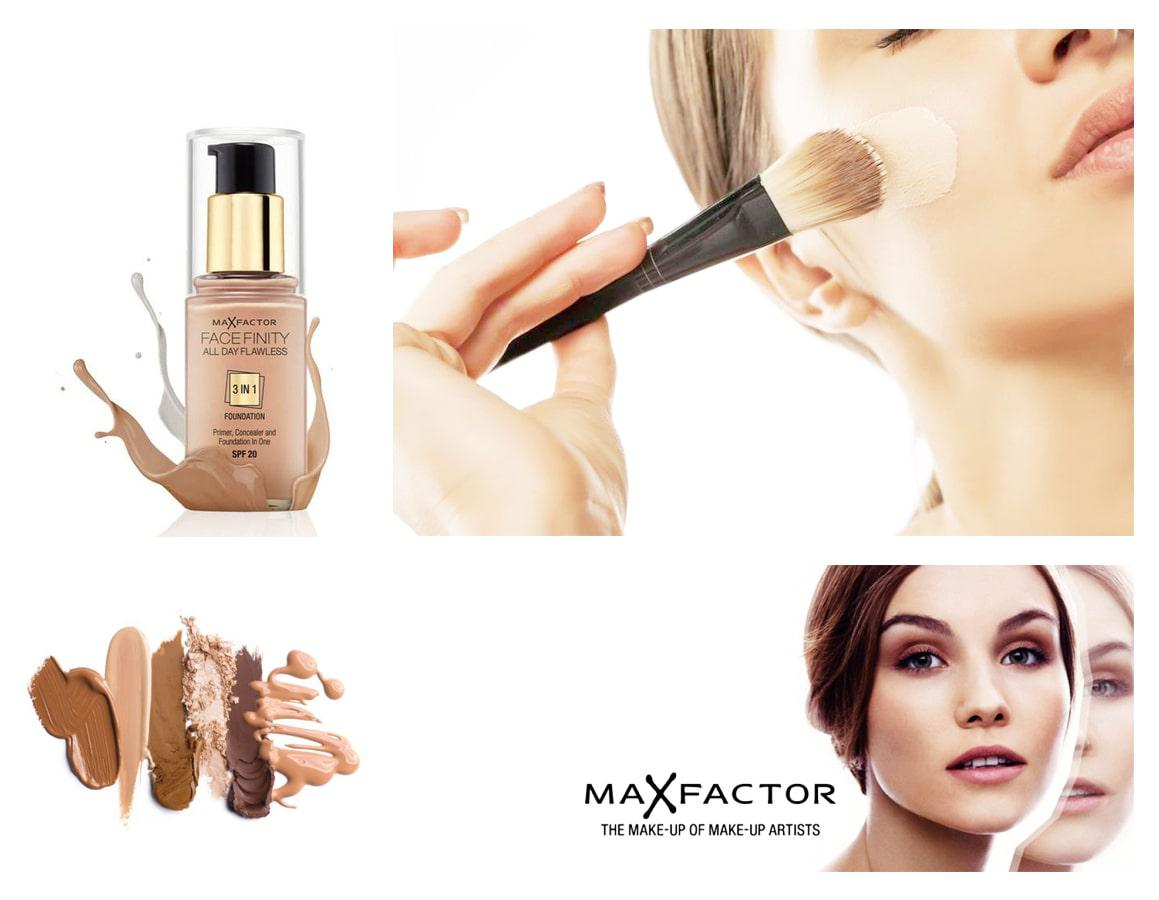Тональная основа Max Factor Face Finity All Day Flawless 3in1
